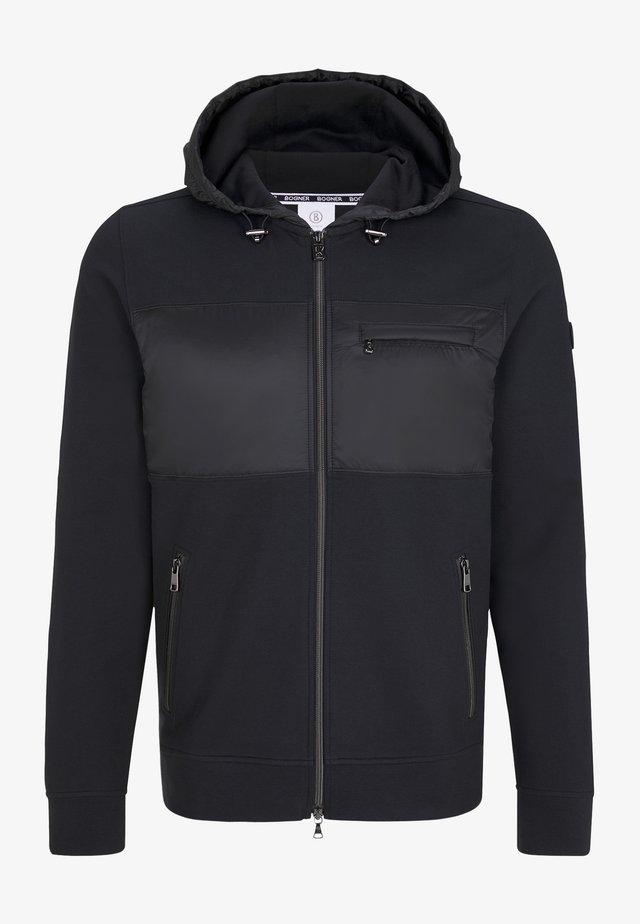HELIOS - Zip-up hoodie - black