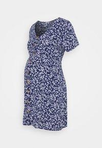 Cotton On - SHORT SLEEVE BUTTON FRONT DRESS - Jersey dress - medieval blue - 0