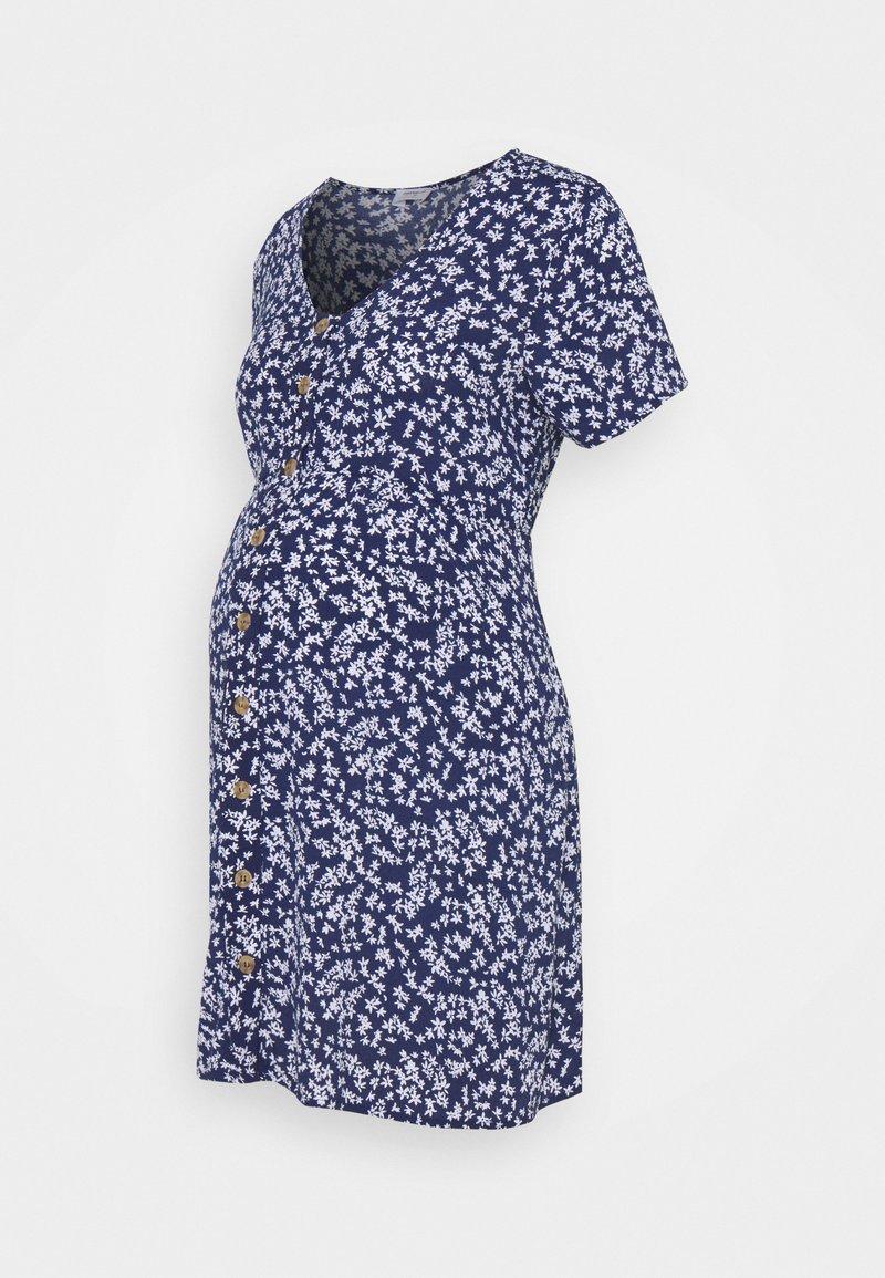 Cotton On - SHORT SLEEVE BUTTON FRONT DRESS - Jersey dress - medieval blue