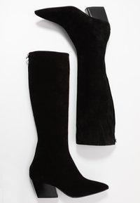 Aeyde - HARPER - Kovbojské/motorkářské boty - black - 3