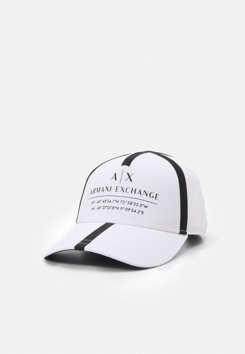 Armani Exchange - MICRO TAPE LOGO BASEBALL UNISEX - Casquette - white