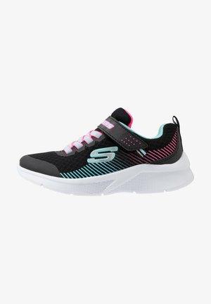 MICROSPEC - Tenisky - black/aqua/neon pink