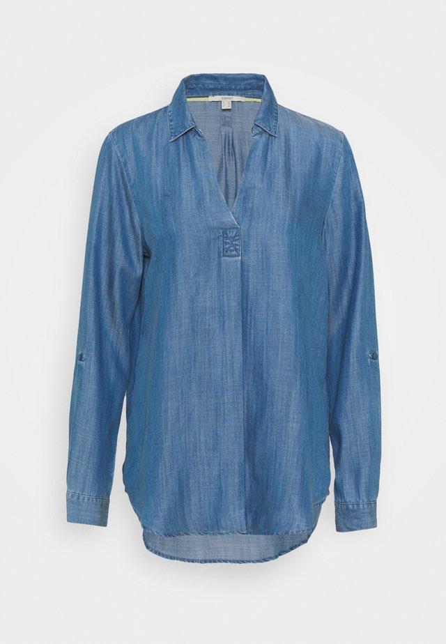 BLOUSE - Camiseta de manga larga - blue medium wash