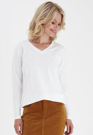 ZASHOULDER 2 ORGANIC - Long sleeved top - white