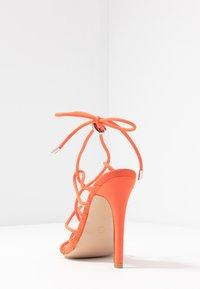 Public Desire - SAVY - Sandály na vysokém podpatku - orange - 5