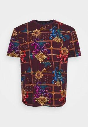 OVERALL PRINT BIG - Print T-shirt - bordeaux