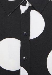 YAS - YASSAVANNA DOT LONG SHIRT DRESS - Maxi dress - black/white - 6
