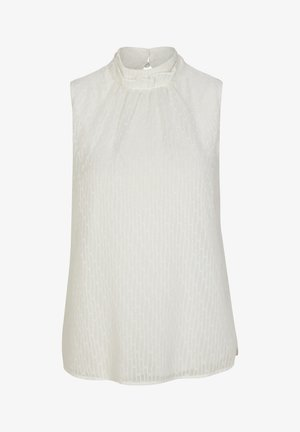 MIT STEHKRAGEN - Bluse - soft white