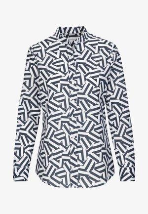 SLIM FIT - Button-down blouse - blau