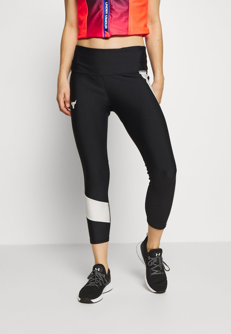 Under Armour - PROJECT ROCK ANKLE CROP - Leggings - black