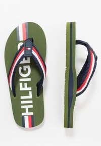 Tommy Hilfiger - T-bar sandals - military green/multicolor - 0