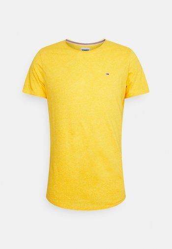 SLIM JASPE C NECK - Jednoduché triko - pollen
