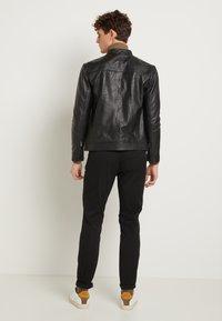 Selected Homme - CLASSIC JACKET - Veste en cuir - black - 3