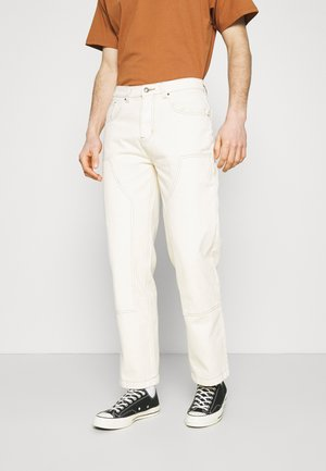 GARMENT DYED CARPENTER  - Relaxed fit jeans - ecru