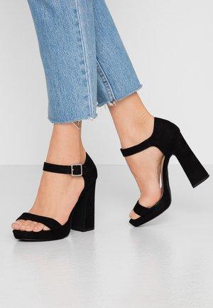 SNOWZ - Sandály na vysokém podpatku - black