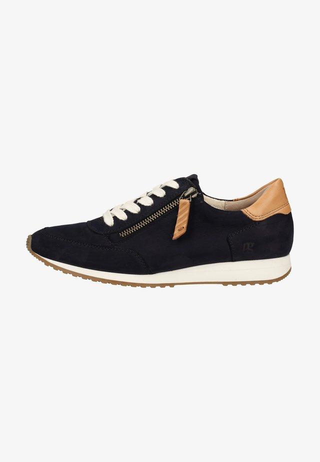 Sneakers basse - blau/mittelbraun 107