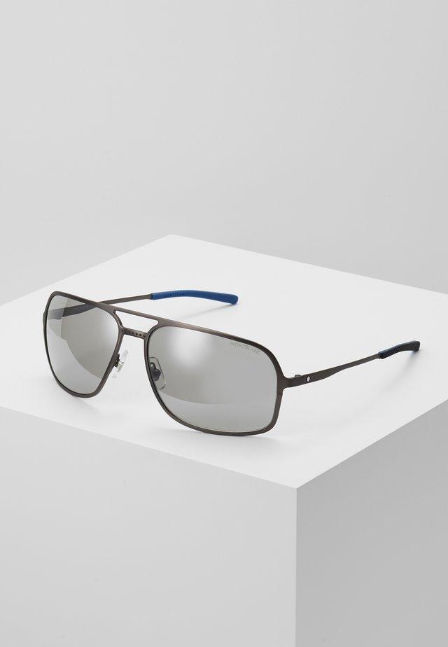 Gafas de sol - ruthenium/silver