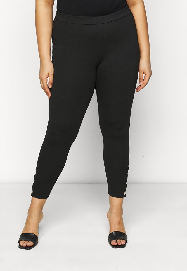 PONTE POPPER - Leggingsit - black