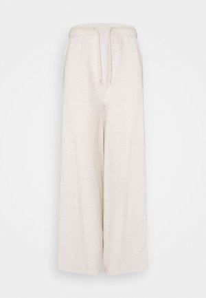WID LEG JOGGERS - Tracksuit bottoms - mottled beige