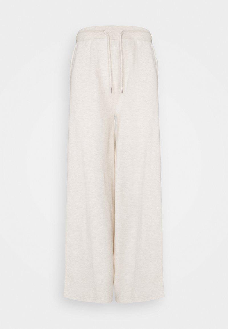 Even&Odd - WID LEG JOGGERS - Tracksuit bottoms - mottled beige