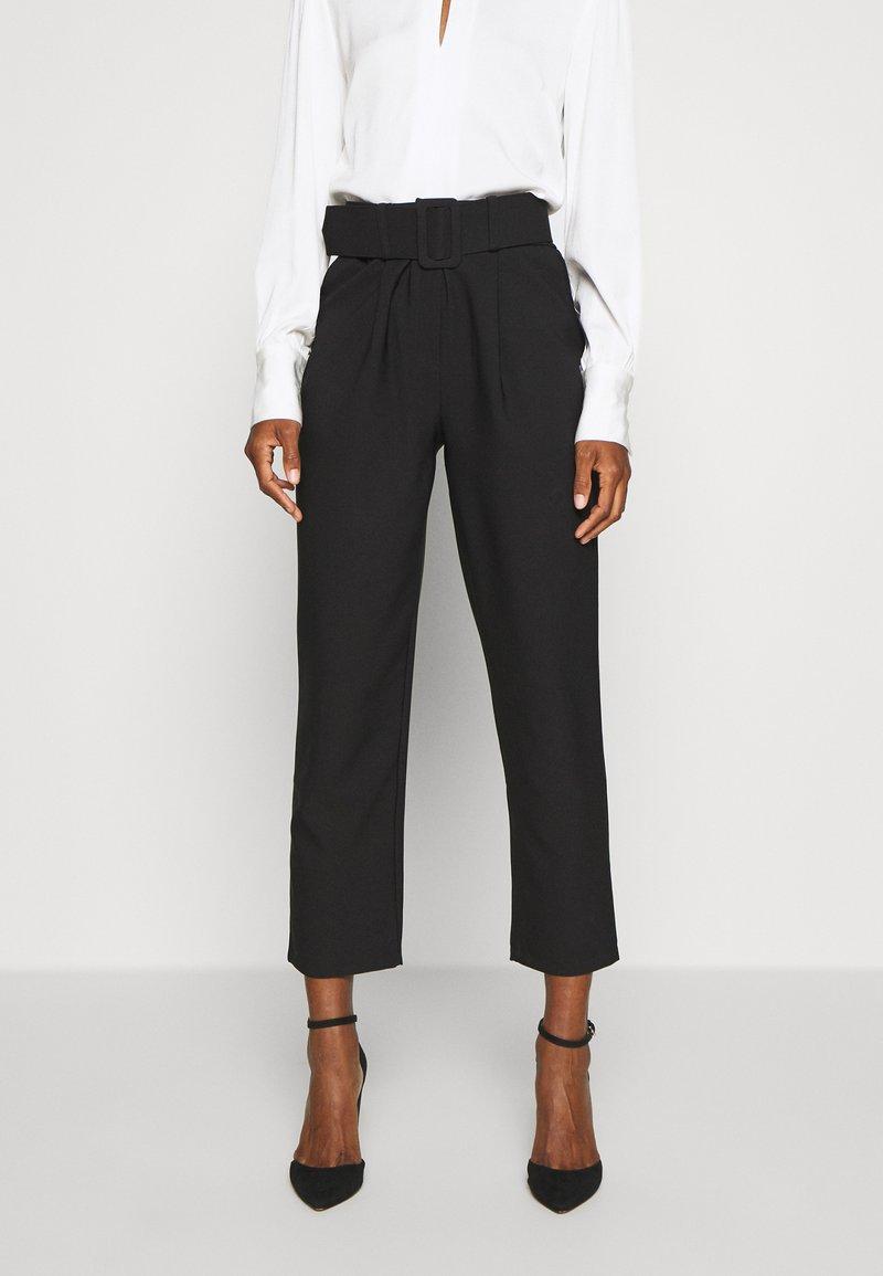 Trendyol - Spodnie materiałowe - black