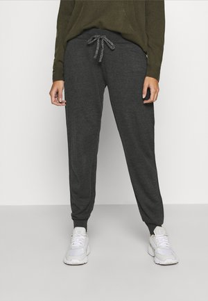 ONLAUBREE LOOSE PANTS  - Tracksuit bottoms - dark grey melange