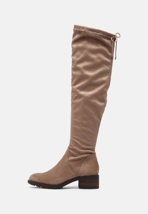 Over-the-knee boots - antelope