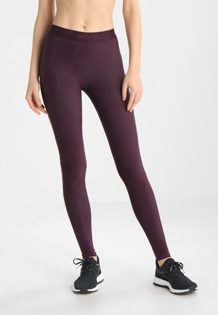 Skins - DNAMIC LONG - Leggings - merlot