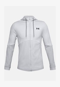 Under Armour - DOUBLE KNIT  - Hoodie met rits - halo gray - 4