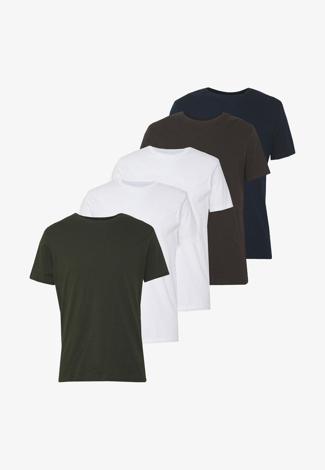 5 PACK  - T-shirt basique - grey