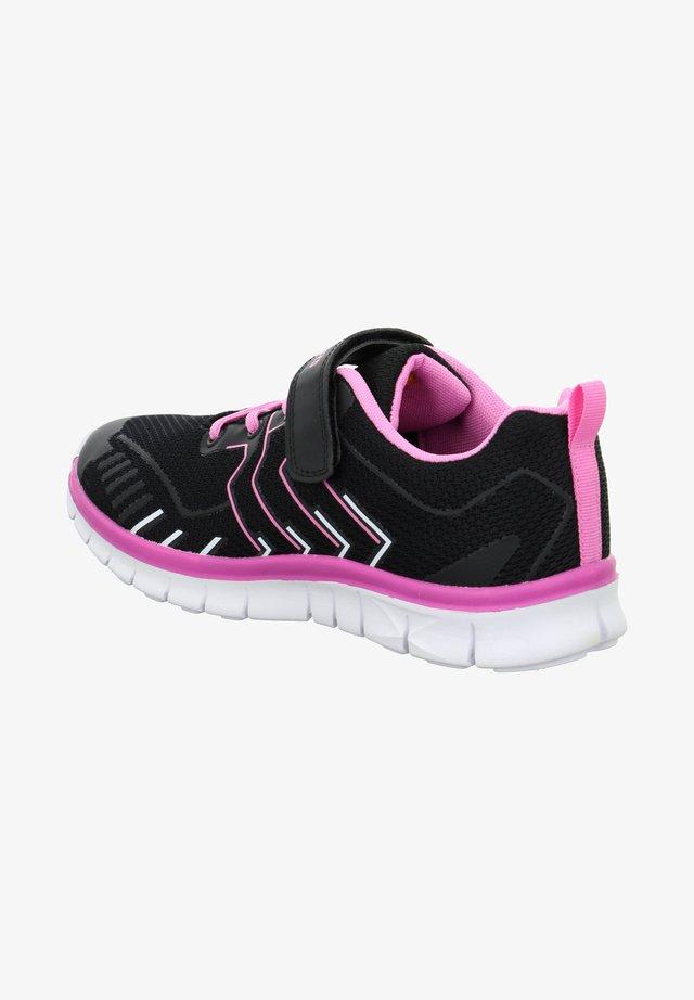 Trainers - schwarz pink