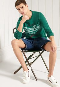 Superdry - Long sleeved top - forest green marl - 2