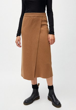 SVAAVA - Wrap skirt - dark caramel