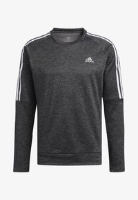 adidas Performance - OWN THE RUN 3-STRIPES CREW SWEATSHIRT - Fleece jumper - grey - 7