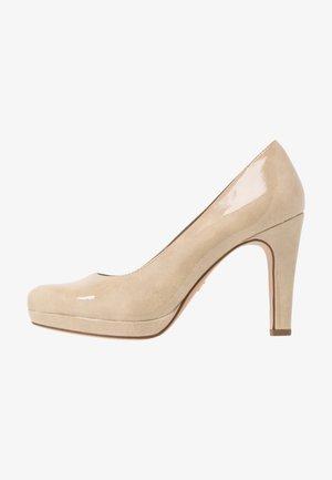 High heels - cream