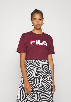 PURE - Print T-shirt - tawny port