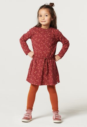 Day dress - oxblood red