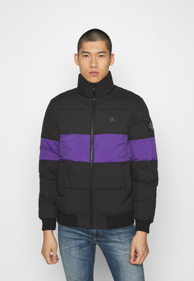 OUTLINE LOGO JACKET - Winter jacket - gentian violet