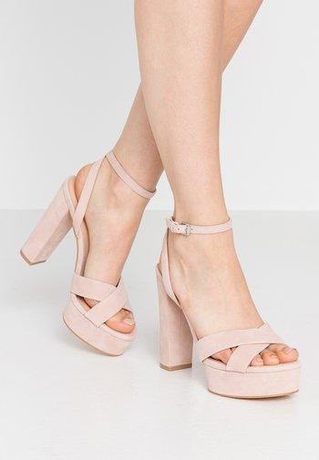 LEATHER - Sandaler med høye hæler - light pink