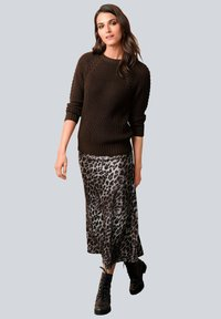 Alba Moda - Maxi skirt - braun,sand,schwarz - 1