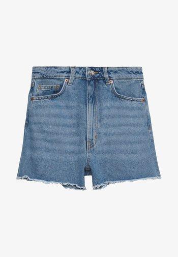 KELLY - Denim shorts - blue medium dusty