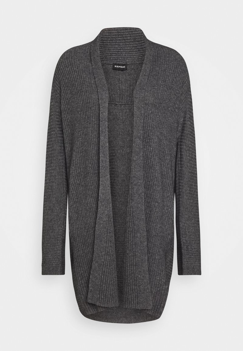 Repeat - CARDIGAN - Cardigan - med grey