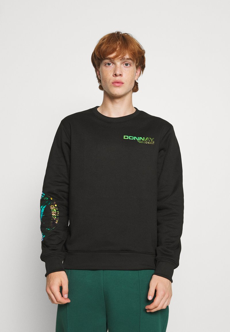 Carlo Colucci - UNISEX - Sweatshirt - black reflective