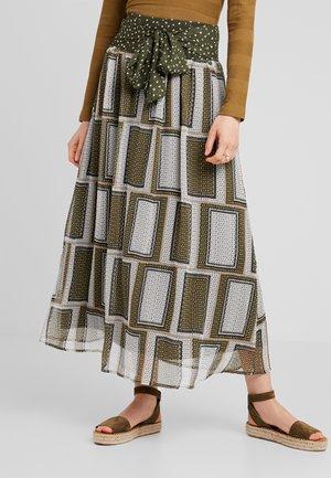 NINE SKIRT - Maxi skirt - burnt olive
