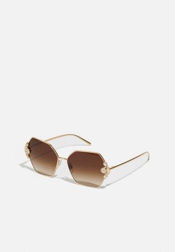 Occhiali da sole - gold-coloured/brown