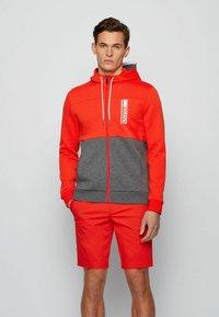 BOSS - SAGGY - veste en sweat zippée - grey - 0