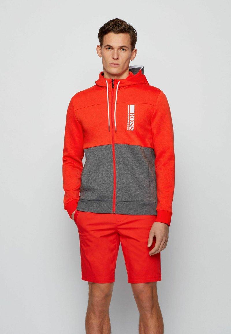 BOSS - SAGGY - Zip-up hoodie - grey