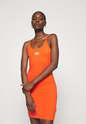 BASIC DRESS SMALL LOGO - Vestido ligero - atomic red