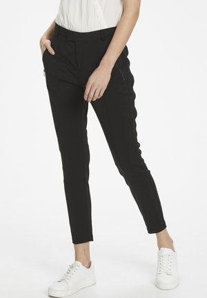 PATRICIA PANTS 7/8 - Trousers - pitch black