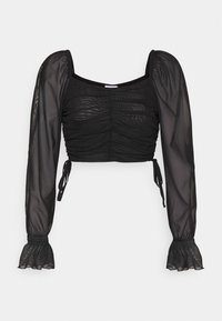 NA-KD - GATHERED - Long sleeved top - black - 0